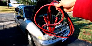 Do you hook up positive or negative first (for car battery)