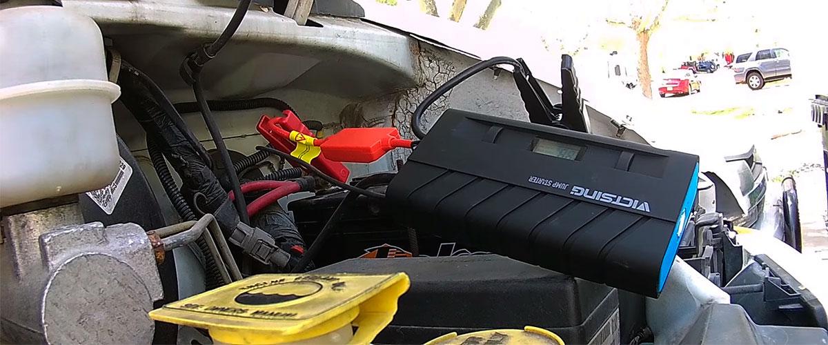 Compact jump starter