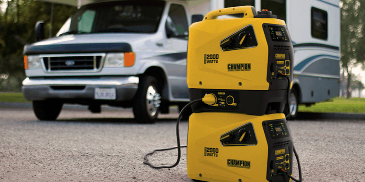 2000 watt generator and rv